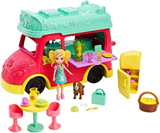 Mattel Polly Pocket Swirlin' Smoothie Truck Playset with Polly Doll and Accessories [Amazon Exclusive]