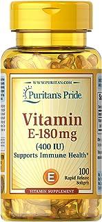 Puritans Pride Vitamin E-400 Iu Softgels, 100 Count