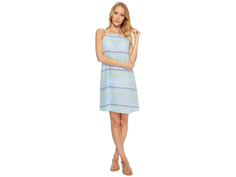 Echo Design Sunset Stripe Mini Dress (Sky Blue) Women