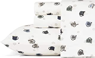 Eddie Bauer Flannel Sheet Set, Queen, Camping Mugs