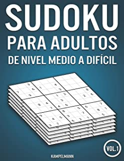 Sudoku para adultos de nivel medio a difícil: 400 Sudokus de nivel medio a difícil para adultos (Vol. 1)