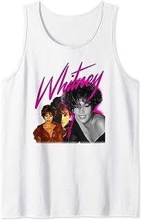 Whitney Houston Official Pink Collage Retro Music Fashion Tank Top