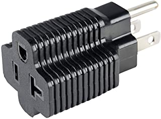 AKJIA UL Listed 15 Amp Household Plug to 20 Amp T-Blade Female Adapter