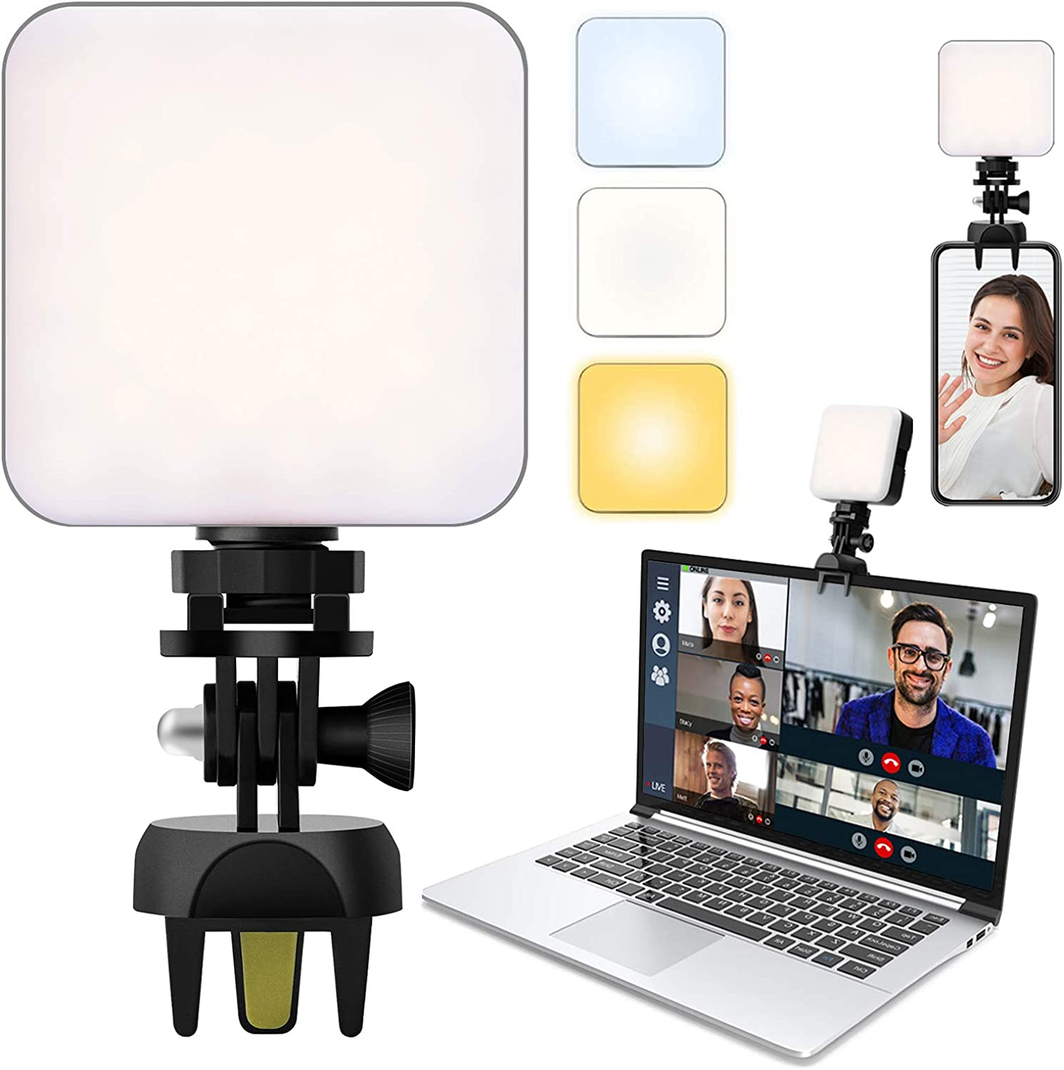 Video Conference Lighting with Upgraded Clamp Mount Zoom Lighti lowest price New mail order