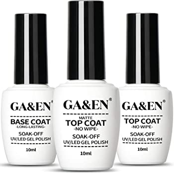 No Wipe Matte+Mirror Top Coat+Base Coat UV/LED Lamp Dry Needed Gel Quick Dry Long Lasting Gloss Mirror Clear Resin Gel Polish Glue Nail Art For Home And Salon Use
