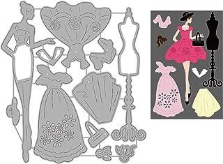 GLOBLELAND 2 pièces 2 Style Robe Femmes Matrices de découpe en Acier au Carbone Dies Scrapbooking Bricolage Artisanat Matr...