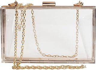 Women Cute Clear Acrylic Box Clutch Bag Stadium Approved Crossbody Purse  Evening Bag bb64646d7b48
