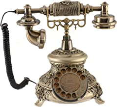 $63 » Antique Telephone,One-Key Redial and Caller ID Function Retro European Landline Old-Fashioned Digital Fixed Telephone Suit...