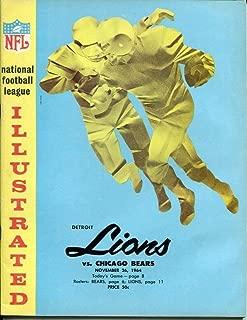 1964 Detroit Lions v Chicago Bears Program 11/26 Tiger Stadium Ex/MT Nice 54207