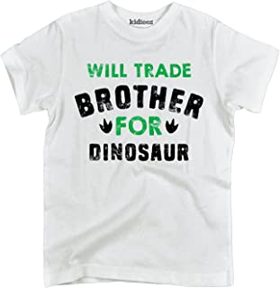 Will Trade Brother for Dinosaur-Toddler Short Sleeve Tee