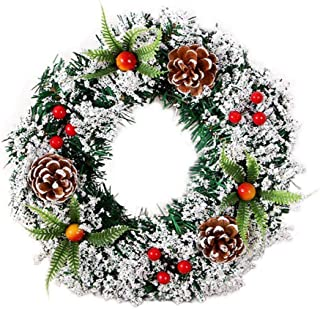 DZT1968 Wall Hanging Christmas Wreath Decoration for Xmas Party Door Garland Ornament,20/30/40CM (20CM)