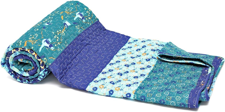 1001 Wohntraum 15S03-2 Quilt Maren Blaumen Ranken Plaid Tagesdecke Decke, Decke, Decke, 180 x 220 cm, Vogel blau B0196QNBV8 5d75c0