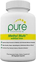 Methyl Multi Without Iron - 240 Vegetable Capsules | This Vegan Formula Features Activated Vitamin Cofactors and Folate as Quatrefolic® (5-MTHF) | Patented Albion TRAACS Chelated Mineral Complexes