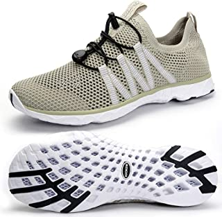 SUOKENI Men's Quick Drying Slip On Water Shoes for Beach or Water Sports