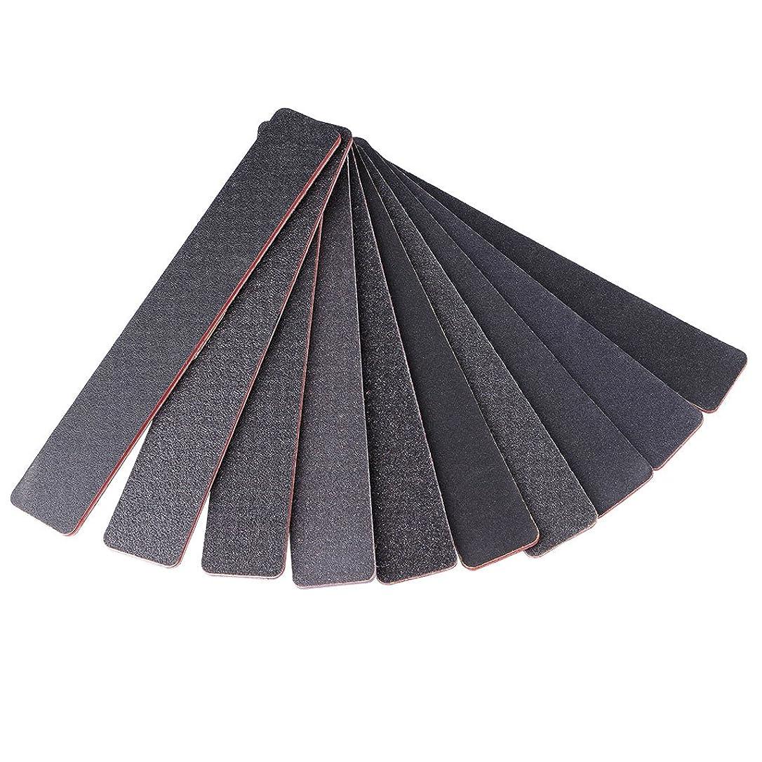 サンダー旅行者講師ジャッキー長方形の黒砂赤いハートネイルファイル1PCネイルファイルサンディング100/180スクエアダブルサイドネイルアートのヒントマニキュアツール