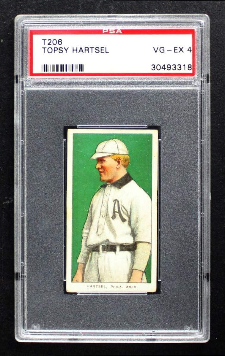 1909 T206 Topsy Credence Hartsel Quantity limited Philadelphia Card Athletics P Baseball