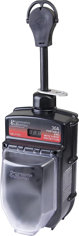 Portable EMS-PT30X Black RV Surge Protector