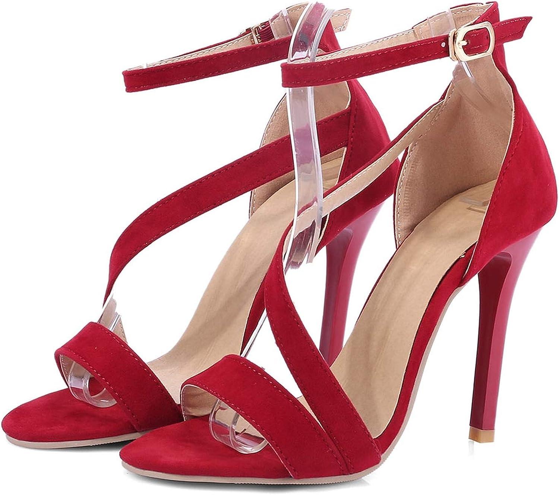 Ankle Strap Heels Women Sandals Summer shoes Women Open Toe High Stiletto Heels Sandals