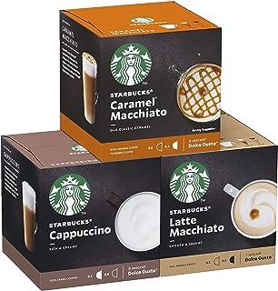 Capsules de café Starbucks Nescafé Dolce Gusto • Pack Familial Multi-Boissons en qualité professionnelle (Caramel Macchiat...