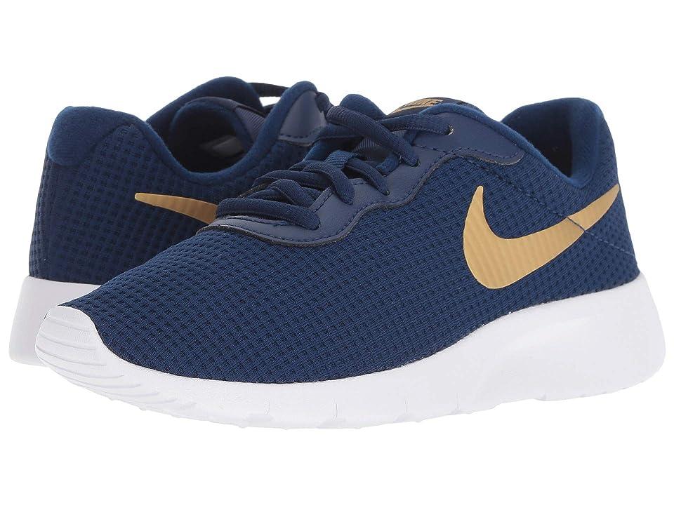 Nike Kids Tanjun (Little Kid) (Blue Void/Metallic Gold/White) Boys Shoes