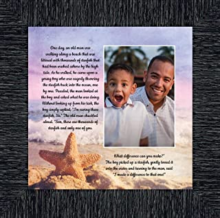 Crossroads Home Décor The Starfish Story, You Make a Difference, Ocean Decor, 10x10 6396CH