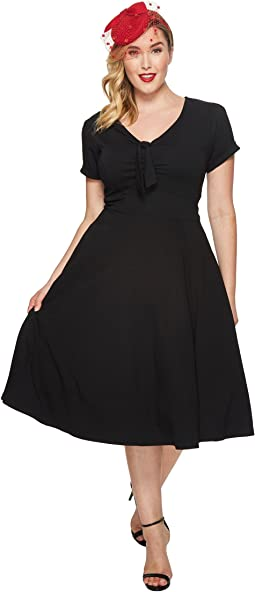 Unique Vintage - Plus Size Short Sleeve Natalie Swing Dress