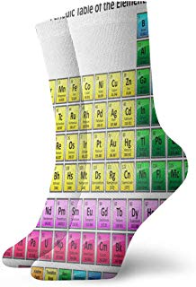 Crew Socks ShinyPeriodicTable Athletic Socks Special Anti Bacterial Odor Cushion Short Boot Stocking