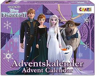 CRAZE Kalendarz adwentowy Frozen II kalendarz bożonarodzeniowy Królowa lodu księżniczka lodu 2021 dziewczynki kalendarz za...