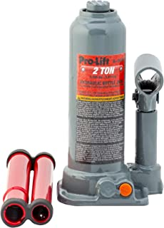 Pro-Lift B-002D Grey Hydraulic Bottle Jack - 2 Ton Capacity