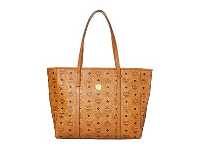 MCM Toni Visetos Shopper Medium (Cognac) Bags