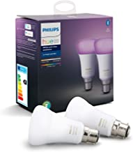 Philips Hue White and Colour Ambiance Smart Bulb Twin Pack LED [B22 Bayonet Cap] with Bluetooth, Works with Alexa and Goog...
