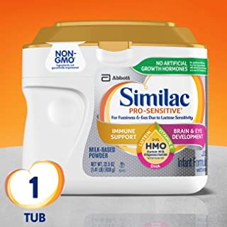 Similac Pro-Sensitive Infant Formula with 2'-FL Human Milk Oligosaccharide* (HMO) for..
