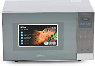 Midea Microwave EG928EYI 28L Grill Microwave Oven with Digital Controls and Mirror finish, 1 Year Warranty