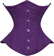 luvsecretlingerie Heavy Duty 26 Double Steel Boned Waist Training Cotton Underbust Shaper Corset for Wider Hips #450-TC
