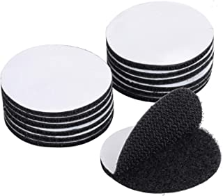BRAVESHINE Adhesive Tape - 16PCS Sticky Back Hook Loop Dots - Double Sided Industrial Strength Coins - Heavy Duty Rug Carpet Gripper Pad Mounting Tape for Wall Decor or Tools Hanging - Round 2 inch