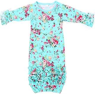 Infant Newborn Baby Girl Fold Lace Night Gowns Sleeping Bag Sleepwear