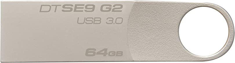 Kingston Digital 64 GB Data Traveler SE9 G2 USB 3.0 Flash Drive (DTSE9G2/64GBET), Silver
