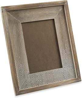 Boho Traders Texas Wooden Picture Frame Texas Wooden Picture Frame, Brown