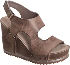 Antelope Women's 732 Leather Hi Side Cut Wedge Sandals