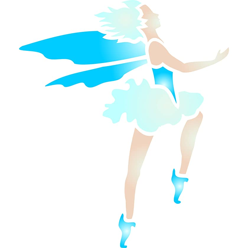 """Fairy Stencil - (size 3.5""""w x 4""""h) Reusable Wall Stencils for Painting - Best Quality Wall Art Summer Fairy Ideas - Use on Walls, Floors, Fabrics, Glass, Wood, Terracotta, and More…"""