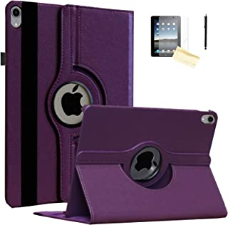 JYtrend Case for 10.5-inch iPad Air 3rd, Rotating Stand Smart Magnetic Auto Wake Up/Sleep Cover For 2019 iPad Air 3 - A2152 A2153 A2154 A2123 MUUJ2LL/A MUUQ2LL/A MV1G2LL/A MV152LL/A MV1D2LL/A (Purple)