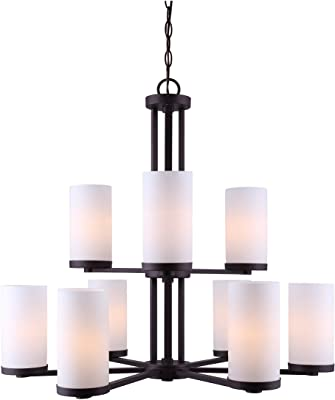 Oil rubbed Bronze And Flat Opal Glass Pendant Ceiling Light