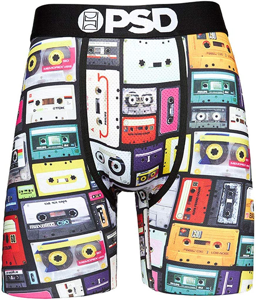PSD Underwear Men's Tapes Printed Boxer Brief