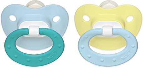 NUK Juicy Puller Silicone Pacifier, 0-6 Months, Assorted Colors, 1 pk