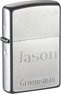 Engraved Zippo Lighter for Groomsmen Gifts - Free Engraving, Roman Fonts