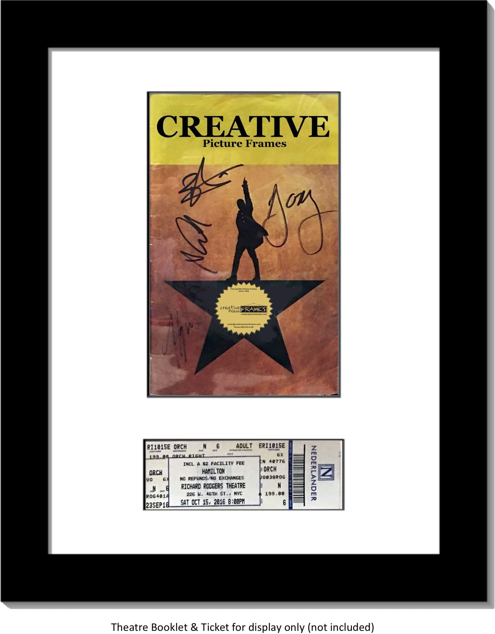Picture Mat 11x14  for Playbill Choose style  Playbill with Ticket or Playbill Only choose colors