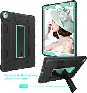 iPad Air 3 (10.5-inch 2019) Case,iPad Pro 10.5,Yoomer Three Layer Heavy Duty Bumper Armor Defender Rugged Hybrid Shockproof Rugged Cover with Kickstand for iPad AIR 10.5
