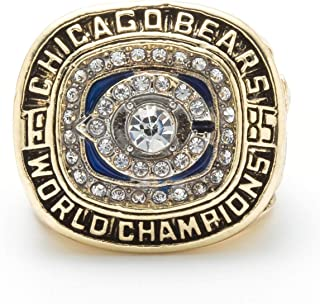 HN Creatife Chicago Bears Super Bowl XX 1985 Ring sz 11 William Perry NFL 1985 Chicago Cubs Championship Ring