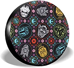 Ximanwoai Star Wars Tire Covers for RV Wheel Motorhome Wheel Covers, Waterproof UV Coating Tire Protectors for Trailer Truck Camper Auto, Fits 14-17inchTire