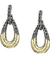 John Hardy - Classic Chain Hammered Hoop Earrings